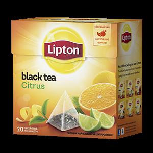 Чай Липтон черный Цитрус (пирамидки) 1,8г 20пак.