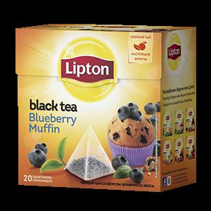 Чай Липтон черный Черничный кекс (пирамидки) 1,6г 20пак.