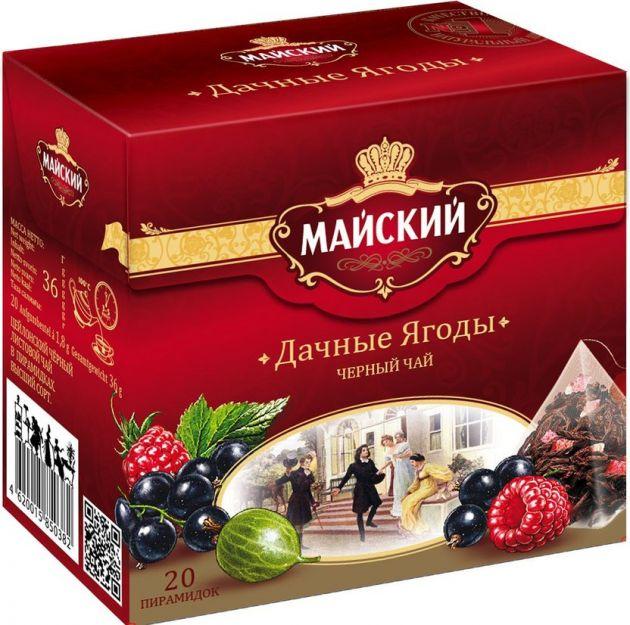 Чай Майский Дачные ягоды пирамидки 1,8г 20пак.