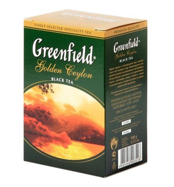 Чай Гринфилд Голден Цейлон кр.лист 100г