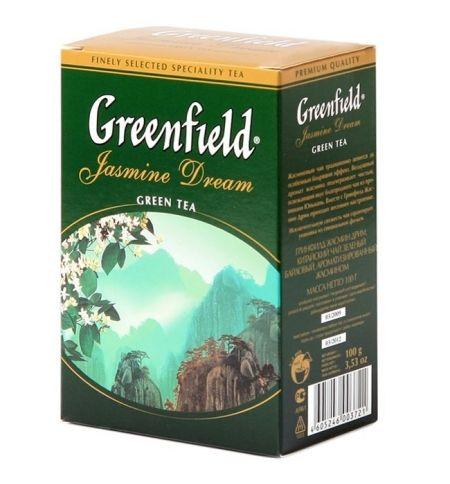 Чай Гринфилд Жасмин Дрим зелен. 100г