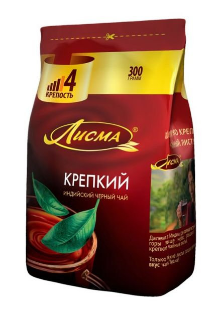 Чай Лисма (Индия) Крепкий мелкий лист м/у 300г