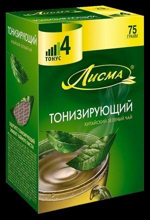 Чай Лисма Тонизирующий зеленый крупный лист 75г