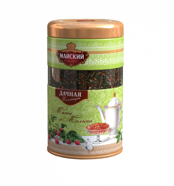 Чай Майский Дачная коллекция Мята-малина ж/б 80гр