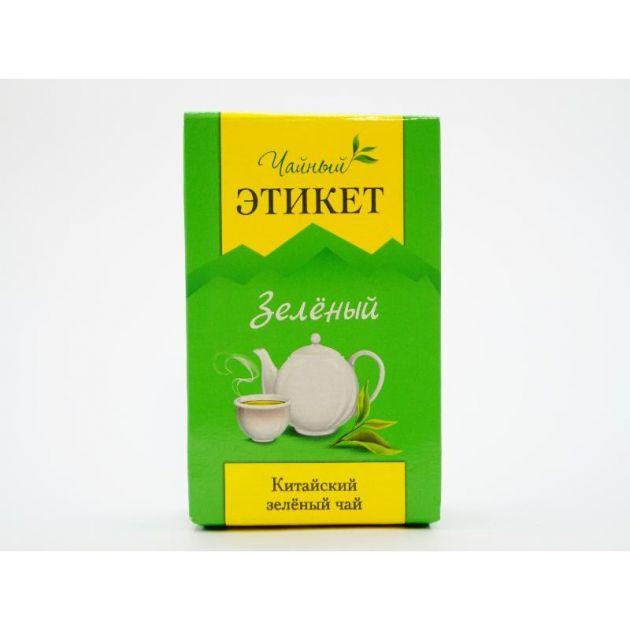 Чай Этикет Зеленый китайский лист 100гр