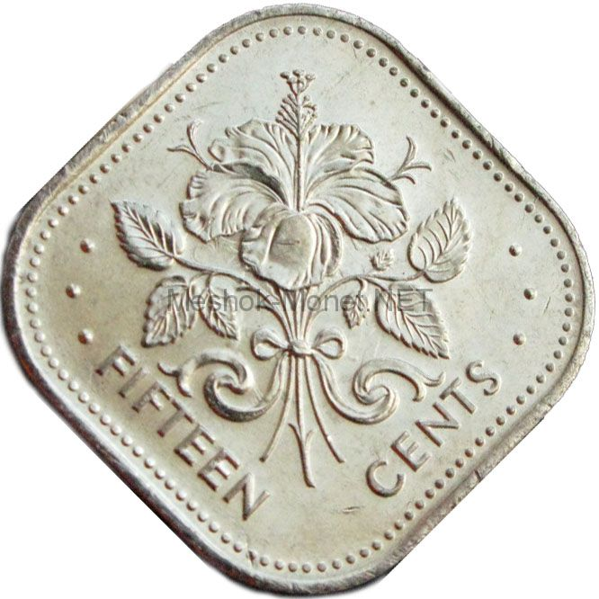 Багамские острова 15 центов 2005 г.
