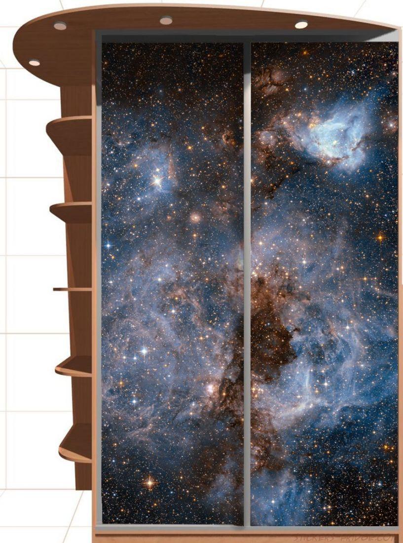 Наклейка на шкаф - Глубокий космос