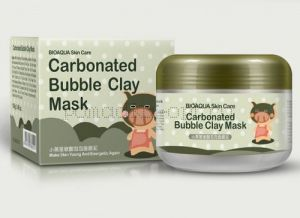 Очищающая пузырьковая маска «BIOAQUA» Carbonated Bubbled Clay Mask