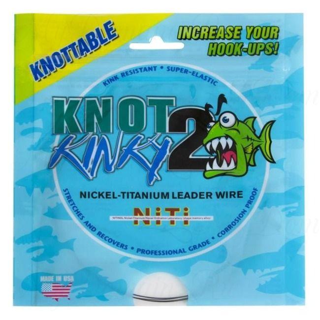 "Титановый стрейч Knot2Kinky Ni-Ti Leader Wire 1х7 100 ft 18lb (8.16 кг), 0.138"", 30.48 м"