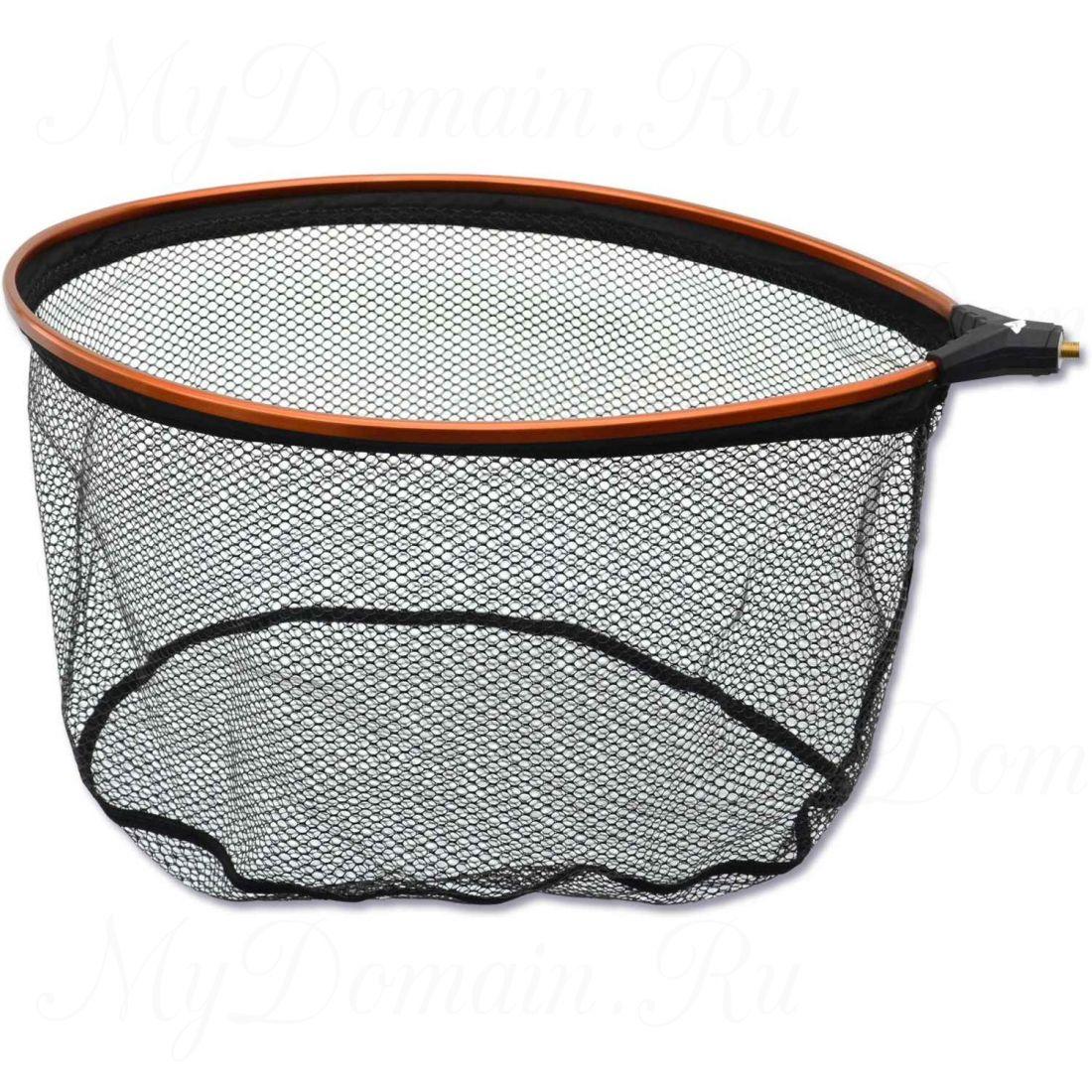Подсак без ручки Browning Landing Net No-Snag Latex, size M, ПВХ с латексным покрытием, размеры обруча 50*35*28 см, ячейка 5X5 мм.