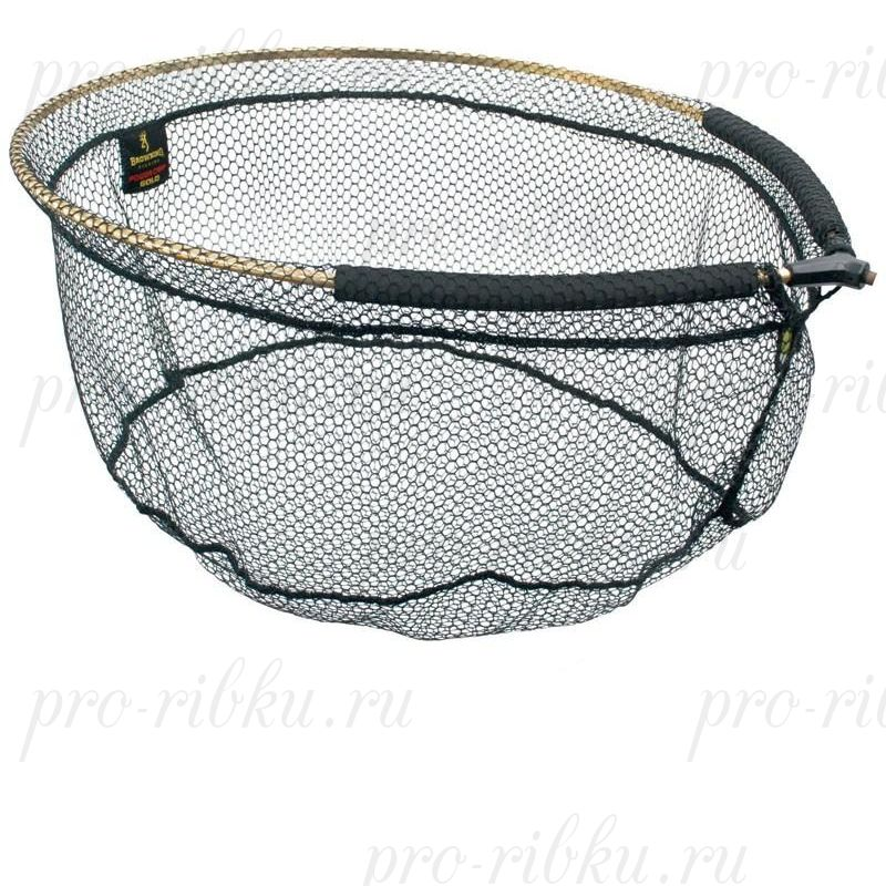 Голова подсачека Browning Landing Net Power Gold 55 см*45 см*28 см (сетка 4х4мм) (7029027)