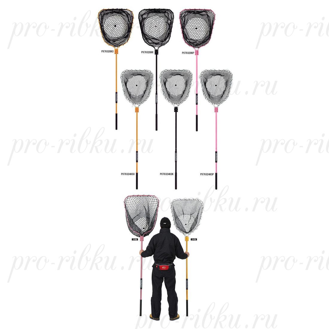 Подсак Prox Dodeka Rubber Landing Net Size24 Silver/Pink