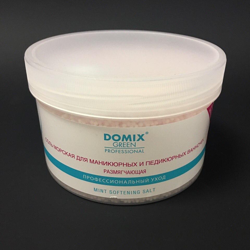 Domix Соль морская размягчающая для маникюрных и педикюрных ванночек, 500гр