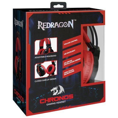 Мониторные наушники с микрофоном игровая гарнитура Chronos Redragon(2.5 метра)