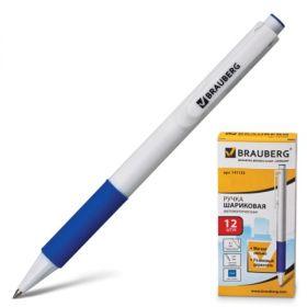Ручка шар авт синяя BRAUBERG Blank кор бел/12 141153
