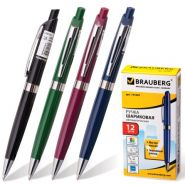 Ручка шар авт синяя BRAUBERG Partner 0,7мм корпус асс/12 141007