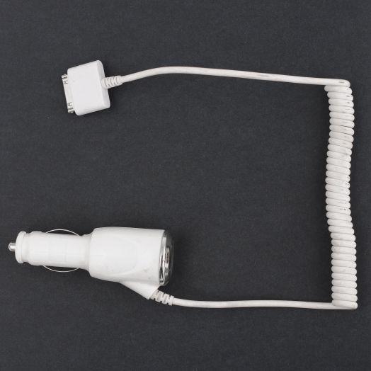 Автомобильное зарядное устройство iphone 4 (без упаковки)