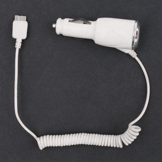 Автомобильное зарядное устройство широкий разъем (без упаковки)