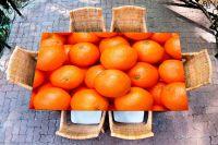 Наклейка на стол - Апельсин | Купить фотопечать на стол в магазине Интерьерные наклейки
