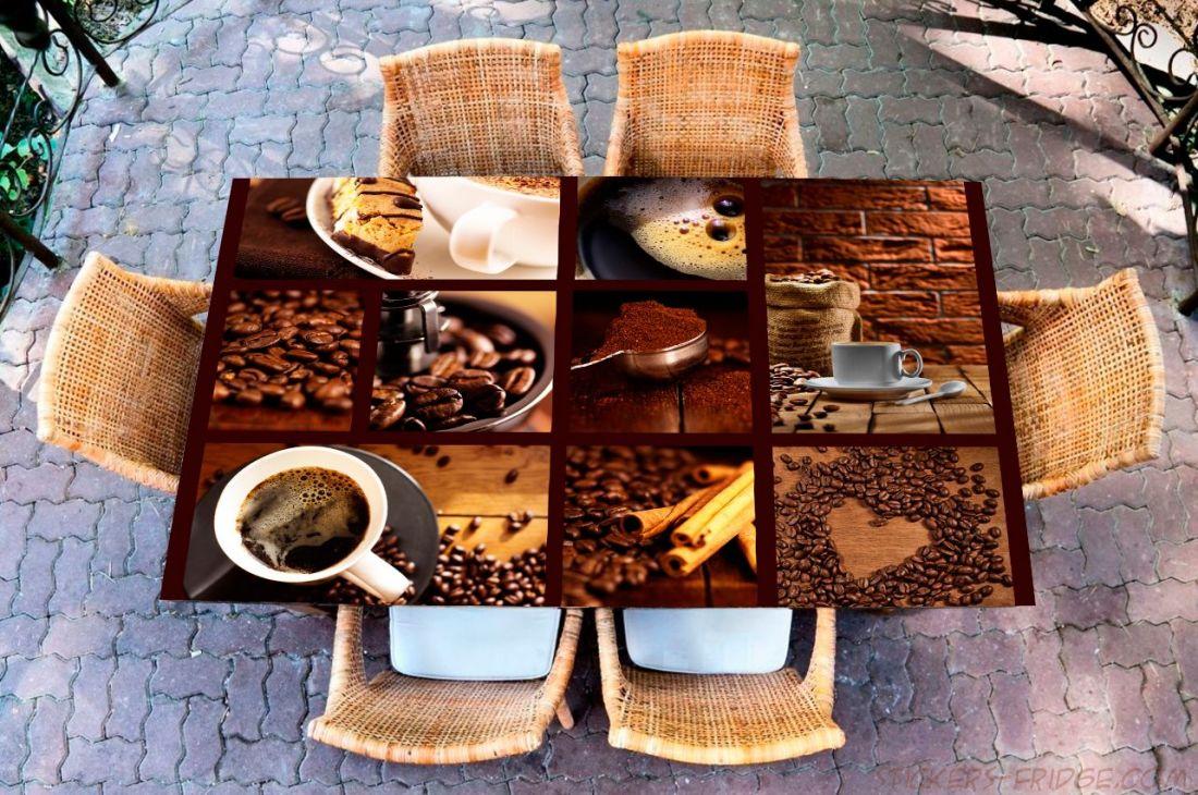 Наклейка на стол - Кофе 3