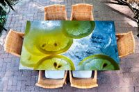 Наклейка на стол - Лимонная | Купить фотопечать на стол в магазине Интерьерные наклейки