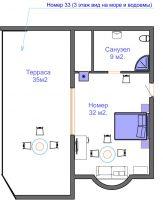 План номера с террасой 3 этаж