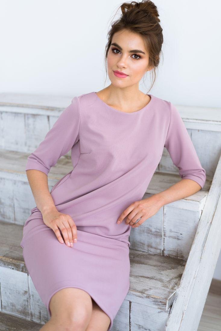 m425 Платье прямого кроя из трикотажной ткани