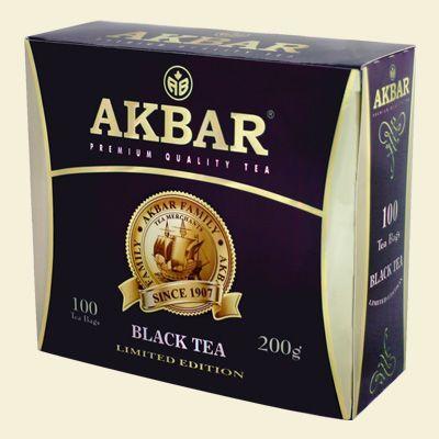 Чай Акбар 100 лет (фиолетовая пачка) 2г с/я 100пак.