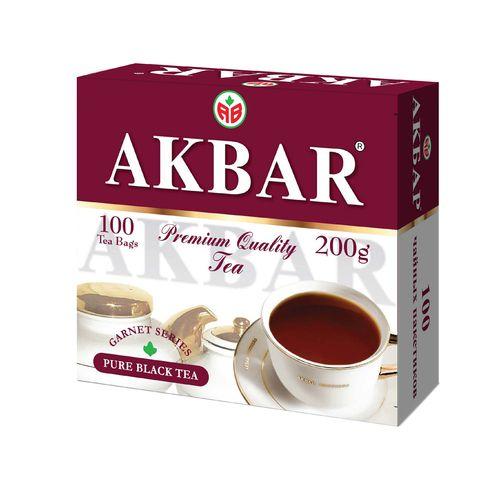 Чай Акбар Гранатовая серия черный байховый мелкий лист 2г с/я 100 пак.