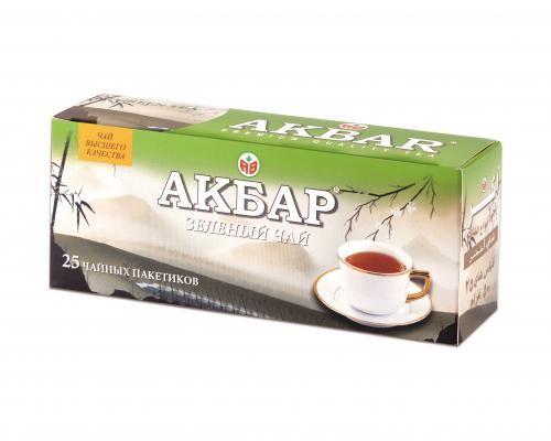 Чай Акбар Зеленый 2г с/я 25пак.