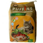 "PUFFINS Корм для кошек ""Вкусная курочка"" (10 кг)"