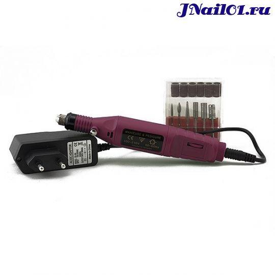 Машинка для аппаратного маникюра YC-01 красная 3000-20000 об/м