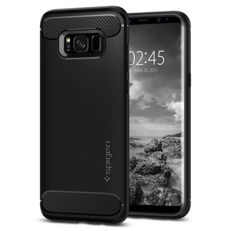 Чехол Spigen Rugged Armor для Samsung S8 черный