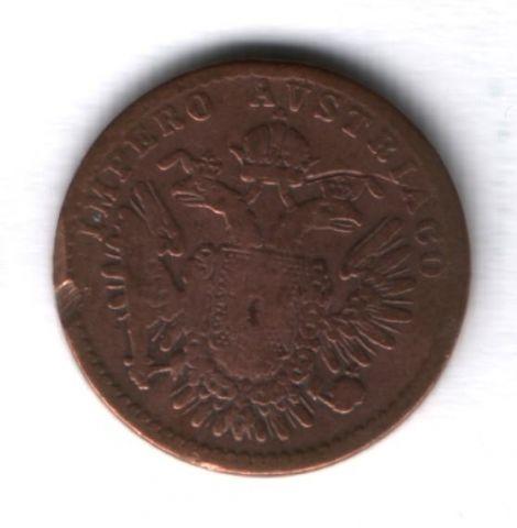 3 чентезимо 1852 г. Ломбардия-Венеция, Австрийская оккупация