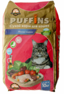 "PUFFINS Корм для кошек ""Мясное жаркое"" (10 кг)"