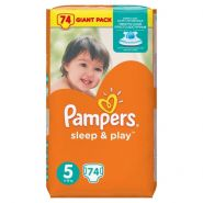 Pampers Sleep&Play 11-18кг, 74шт (5)