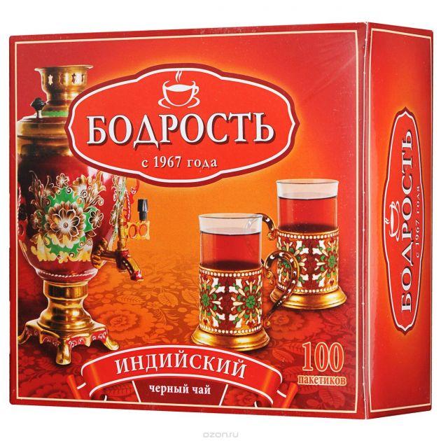 Чай Бодрость индийский 2г с/я 100пак.