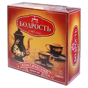 Чай Бодрость классический 2г с/я 100пак.