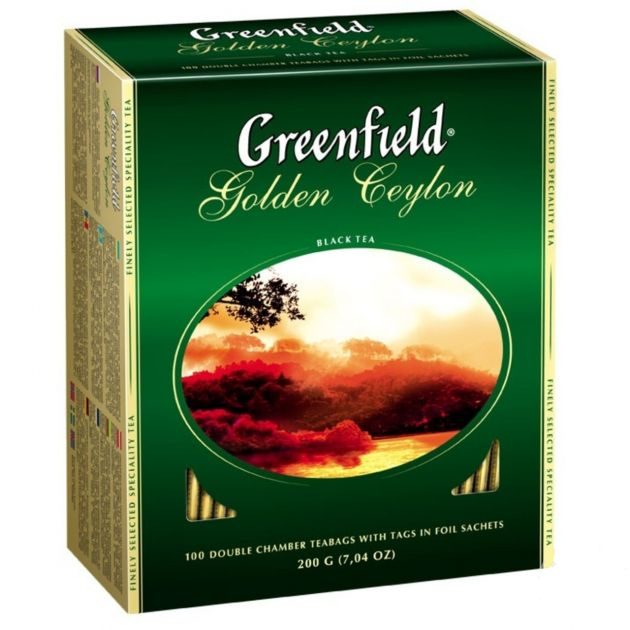 Чай Гринфилд Голден Цейлон черный 2г.100 пак.