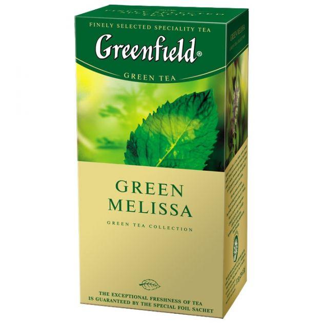 Чай Гринфилд Грин Мелисса зеленый 1,5г 25пак.