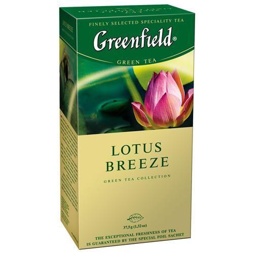 Чай Гринфилд Лотос Бриз зеленый 1,5г 25пак.