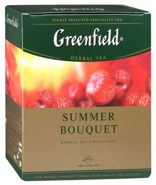 Чай Гринфилд Самма Букет малина 2г. 100 пак.