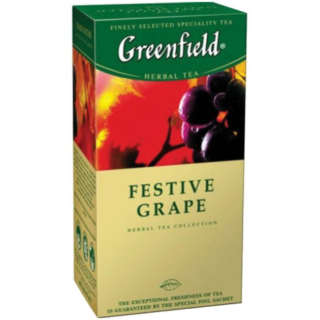 Чай Гринфилд Фестив Грейп виноград 1,5г 25пак.