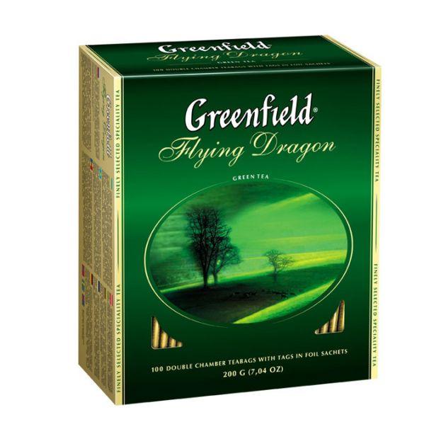 Чай Гринфилд Флайнг Драгон зеленый 2г. 100 пак.