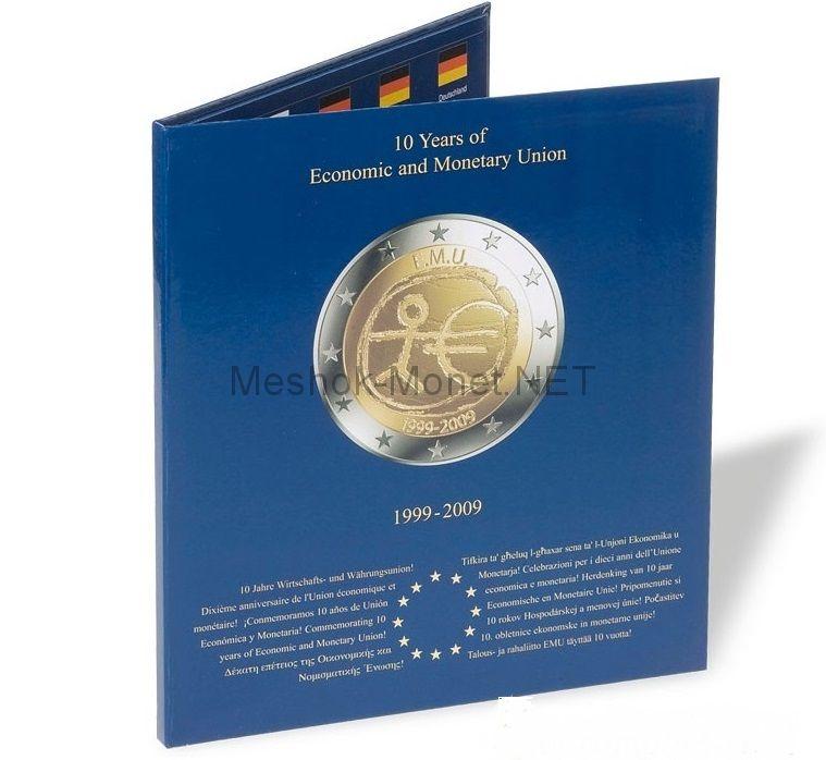 """Альбом-папка для монет 2 евро """"10 лет валютному и экономическому союзу"""""""