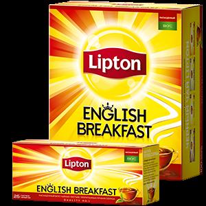 Чай Липтон Инглиш Брекфаст 2г 25пак.