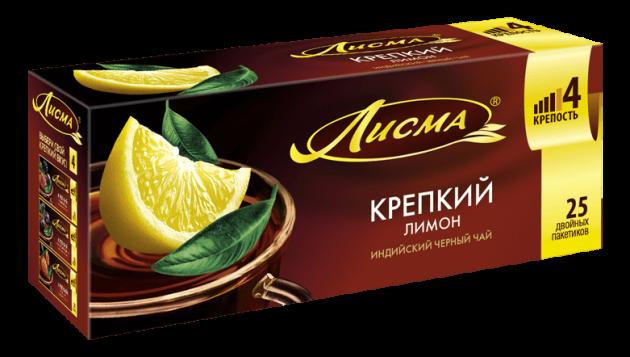 Чай Лисма (Индия) Крепкий Лимон 1,5г 25пак.