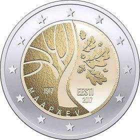 100 лет независимости 2 евро Эстония 2017