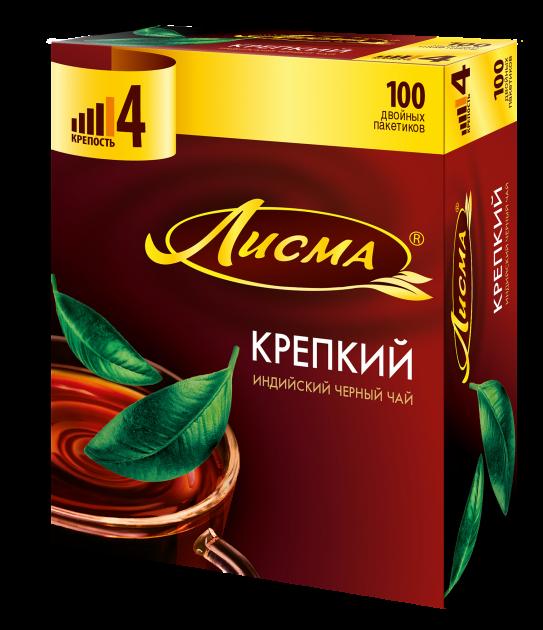 Чай Лисма Крепкий ПРЕпак. 2г 100пак.