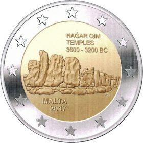 Храмы Хаджар-Ким  2 евро Мальта 2017